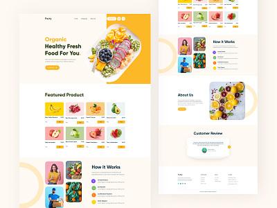 Grocery website homepage design fresh fruit vegetable website fruit website food website food grocery typography homepage design first shot clean design ui