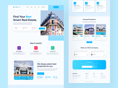 Real Estate Homepage Web Design. minimal ux ui landing page web web design website design home page house home property apartment real estate residence building real estate agency real estate website architecture realestate properties