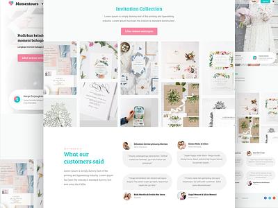 Landing Page Hierarchy wedding website online invitation hierarchy invitation wedding design ux ui landing page