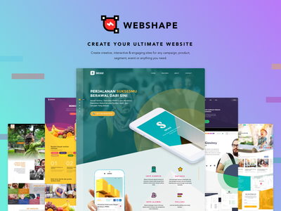 Webshape.co Landing Page landing page website campaign creative interactive product segment event design ui design user interface user experience