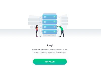 Error State error state ux ui server error page artwork illustration