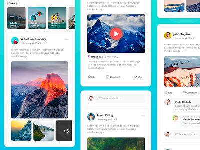 Social Feed visual ux ui illustration digital design concept feed social apps