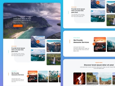 Landing Page website interface user experience ui segment product landing page interactive event design creative campaign