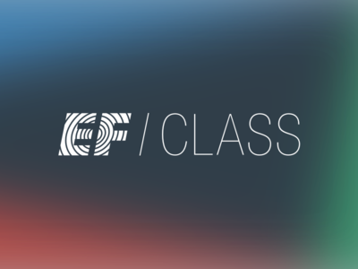 EF Class Identity lockup minimal identity helvetica paul rand typography logo ef class ef education first ef