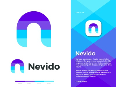 Nevido logo design || N letter logodesigner graphics design logos n letter logo n logo logo design illustration logofolio logo design business graphic design creative logob branding abstract logo