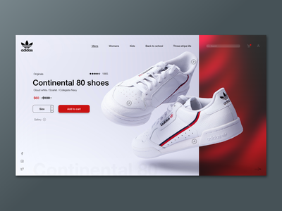 Adidas branding logo design clean web design ux design ux ui design ui