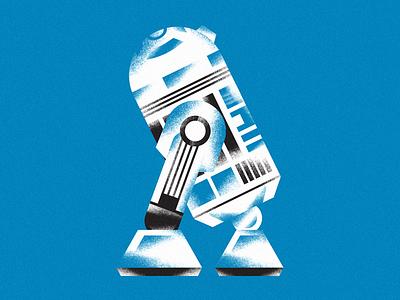 BEEP-BEE-BEE-BOOP-BEE-DOO-WEEP droid illustration star wars r2d2