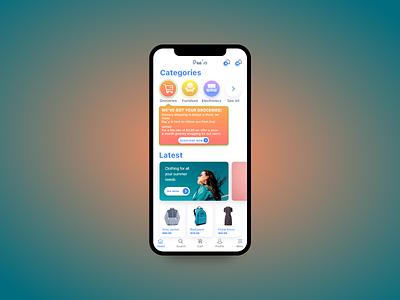 Dee's supermarket app design branding ui design app
