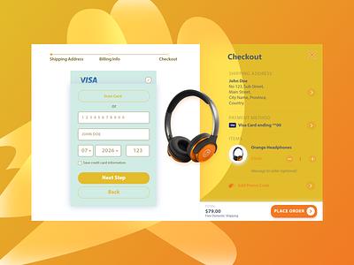 #DailyUI 002 A Check Out Page branding checkout dailyui ui design