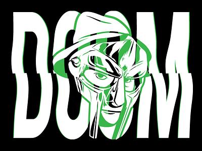 "Just keep ya eye out, like ""Aye, aye captain"" typography doom inspiration glitch rap green illustration mf doom"