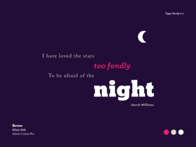 Type Study # 2 - Night