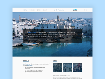 Corporate LT Site minimal qoute sea italia web simple site