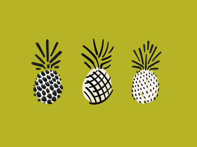 Regular? It's me, Pine. pineapple illustration