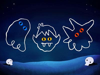 Halloween song song animation skull vampire wolf ghost halloween google