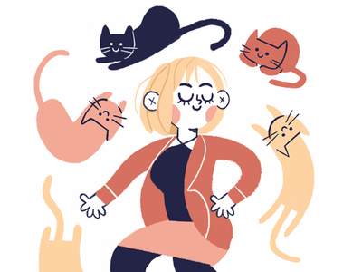 Cats girl cats