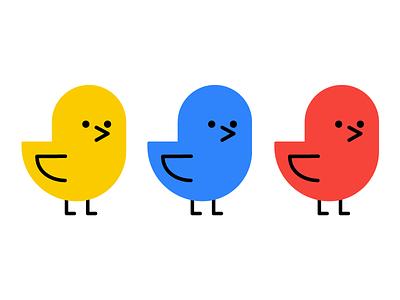 Birds regular color birds