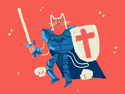 Adventure procreate dnd skull sword dungeon cat