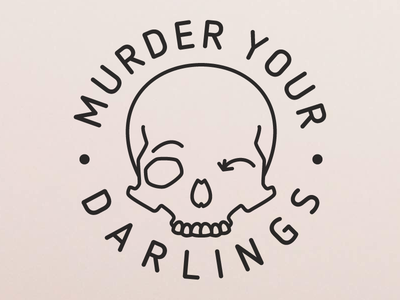 Murder Your Darlings filthy hipster lineart skull illustrator vector debut murder your darlings