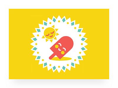 Popsicle Logo vector illustrator happy unused rejected sun popsicle logo