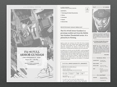 It's a Gundam Wiki! monochrome layout ux ui web website wiki gundam
