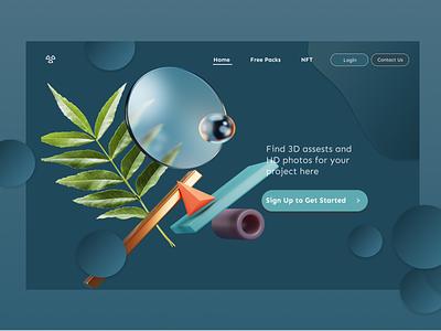 A 3d Model Website figma vector design graphic design animation