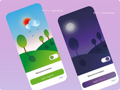 Dark Mode Vs Light Mode ui adobe illustration illustration design animation figma