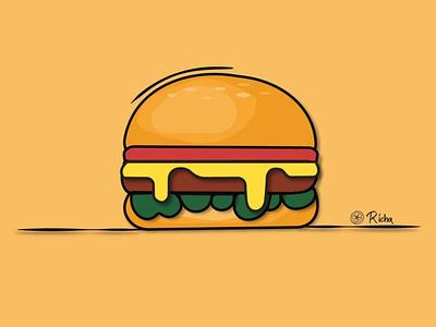A Hamburger - In Illustrator vector branding logo graphic design ui adobe illustration illustration design animation