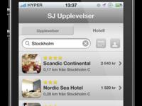 SJ Upplevelser - iphone design concept