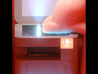 🍑🖨️ Cheeky... scan cheeky colors cinema 4d redshift marcus melin gif animation 3d mellowmustard peach printer butt