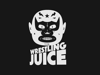 WRESTLING JUICE 🧃🧃🧃 3d cinema 4d redshift mellowmustard marcus melin logodesign wrestlermask design illustration juice branding wrestling logo