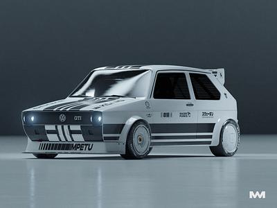 PROJECT GTI cinema 4d marcus melin design redshift3d redshift racing racing car car golf gti volkswagen golf gti 3d 3d art