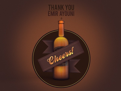 Thanks marcus melin hyper island cheers beer invitation bottle