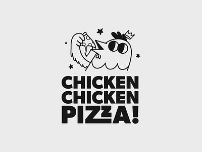 CHICKEN CHICKEN PIZZA illustration mockup 3d mellowmustard marcus melin final dcc pizza box pizza menu logodesign logotype restaurant redshift c4d pizza logo