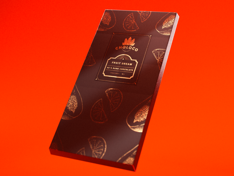 Choloco packaging luxurious gold packaging redshift melin marcus 3d cinema 4d mellowmustard marcus melin typography branding design illustration