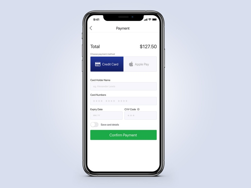 Credit Card Checkout mobile checkout dailyui payment checkout credit card