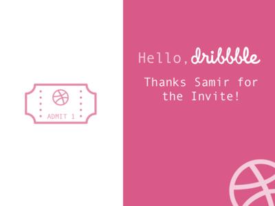 Dribbble Thanks dribbble invite draft dribbble prospect welcome