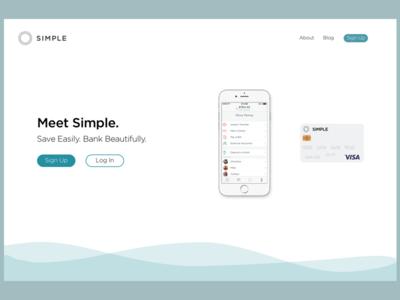 Simple Landing sketch app simple ux ui web web design