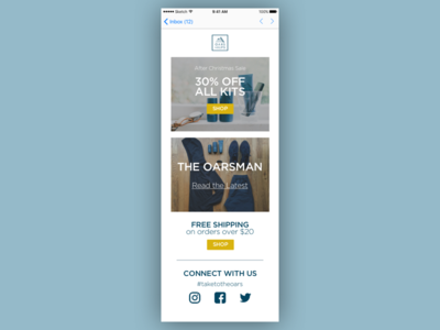 Oars + Alps Email Template mobile first mobile email email ui mobile ui