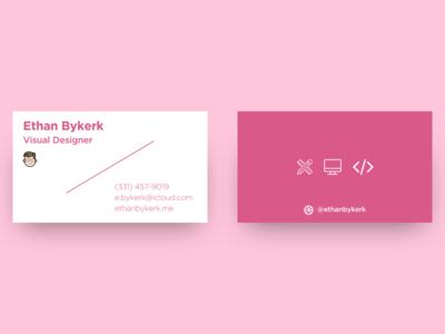 Business Card flat design personal branding branding business card print design print