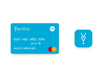 Ventra Card & App Icon public transit transit ventra cta branding logo design logo chicago app icon