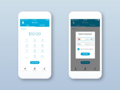 Add Value Screens - Ventra App ios ux ui cta chicago mobile travel transit