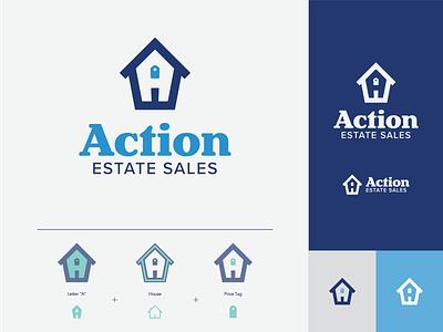 Action Estate Branding logo design sales mobile action a letterform web design graphic design logo icon typography vector design branding