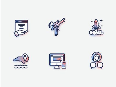 N2DIGITAL Branded Icons iconography imac iphone testimonial web hosting coastal north carolina karate rocket branded icons icons illustration vector logo graphic design icon design branding