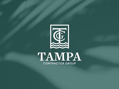 Tampa Contractor Group logo logo design design graphic design branding