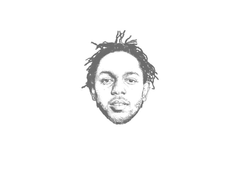 Kendrick Lamar Duckworth illustration portrait illustration best rapper alive hiphop rap kendrick lamar kendrick ipad pencil pen procreate portrait