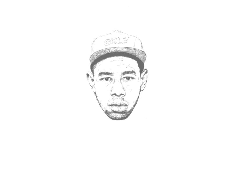 Tyler Gregory Okonma (Tyler, the Creator) golf rapper grammy goblins bastard odd future golf wang flower boy rap procreate apple pencil ipad portrait