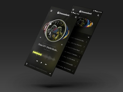 Grooveshark Android App mobile player music app android ui