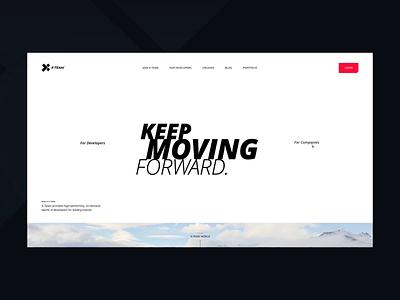 X-Team / Mainpage Animation landing landingpage clean website animation branding design ux ui
