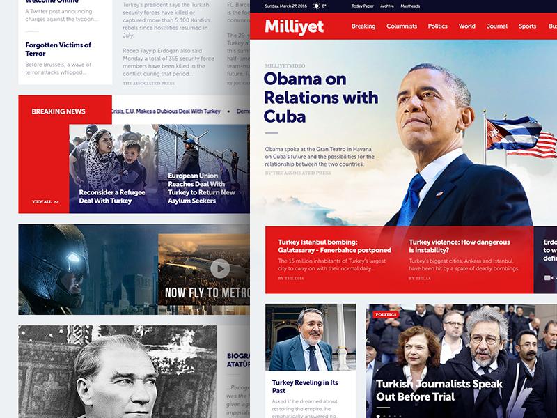 Milliyet.com Redesign layout breaking newspaper news ui web redesign milliyet