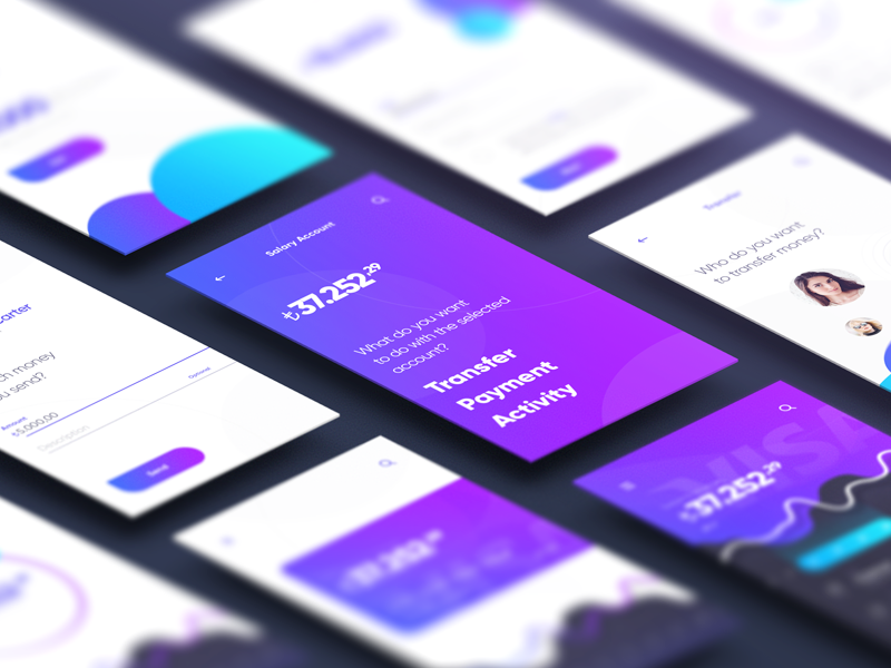 Finance App ux ui transfer swipe money loan ios finance bank app wallet
